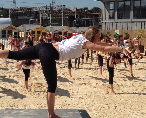 Creative Yoga with Richard Brook at Camden Roundhouse Beach London