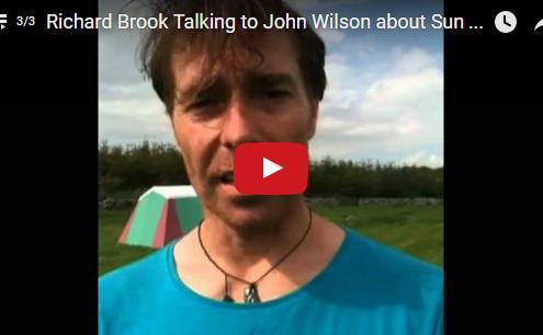 Richard Brook talking with John Wilson about Sun Moon Dance