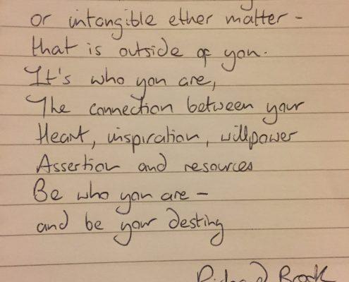 Destiny Blog with Richard Brook Holistic Expert