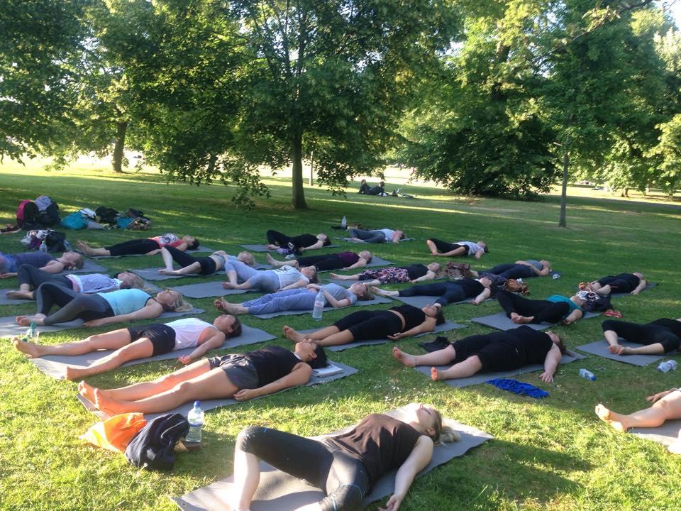 Outdoor Yoga in London with Richard Brook of Creative Wellness